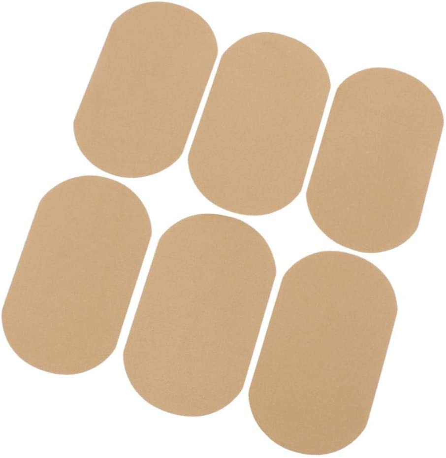 6 Pcs Iron on Patches Denim Jean Patches for Clothing Repair 7.1 X 4.3 6 Colors to Choose - Beige Inside Jeans Patches for Jeans
