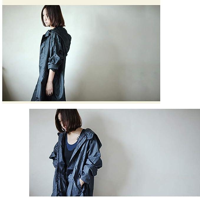 Geyao Coreano Moda Adulto Siamés Correr Viajes Impermeable Impermeable Poncho Mujer Taxi (Color : Black, Size : L): Amazon.es: Hogar