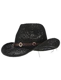 La Vogue Straw Hat Western Cowboy Hat Men Wide Brim Sun Hat Retro Headband