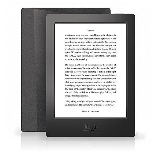 Kobo Aura H2O 6.8-Inch Comfort Light, Water Resistant E-Reader (Black) at Electronic-Readers.com