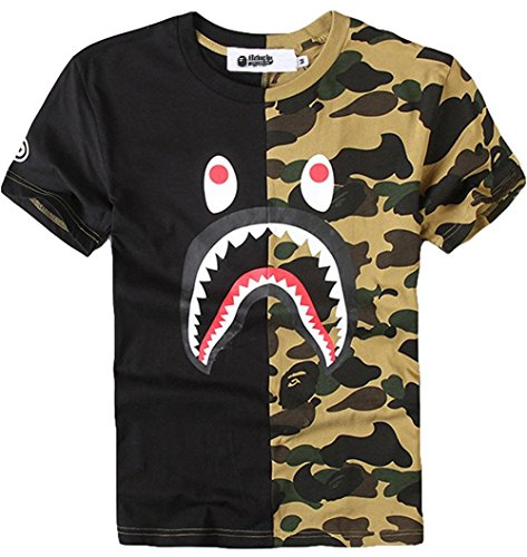 Juniors Casual Fashion Crewneck T Shirt Shark Camo Tees Tops for Teens