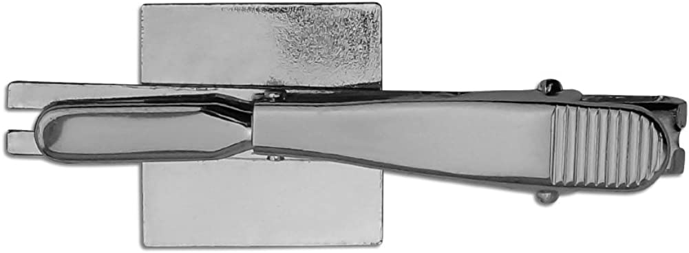 Silver or Gold GRAPHICS /& MORE Alligator in Swamp with Lily Pads Square Tie Bar Clip Clasp Tack