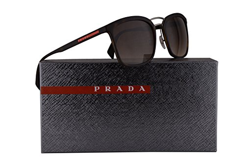 Prada PS03SS Sunglasses Havana Rubber w/Brown Gradient 56mm Lens U616S1 SPS03S PS 03SS SPS - Www Prada