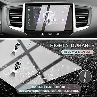 CDEFG 2016-2020 2020 Ridgeline Tempered Glass Navigation Screen Protector, Center Touch High Clarity, Anti-Scratch with Silk-Screen Printing Tech (8-Inch): GPS & Navigation