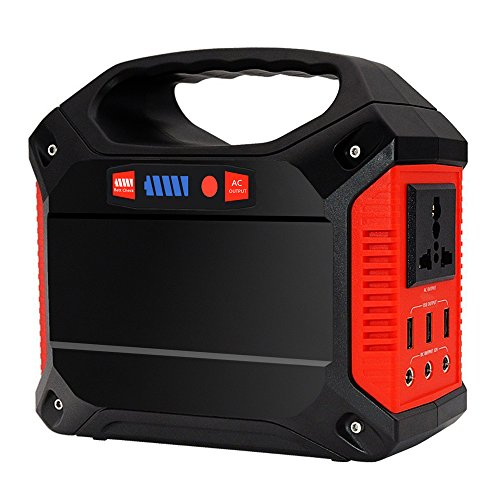 Portable Generator Power Inverter 42000mAh 155Wh Rechargeable Battery Pack Emergency Power Supply for Outdoor Camping Home Charged by Solar Panel Wall Outlet Car with 110V AC Outlet 3 DC 12V USB Port (12v Small Ac Battery)