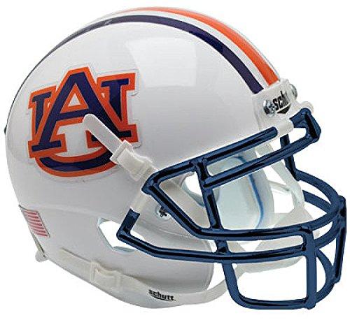 - Schutt Auburn Tigers Full XP Replica Football Helmet Chrome Mask - NCAA Licensed Gift