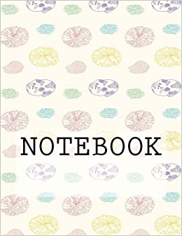 """Epub Download Notebook: Lily Pads (Cream), Rydal Water, Lake District. Ruled (8.5"""" x 11""""): Ruled Paper Notebook (Augmented Reality Colouring Books of Great Britain)"""