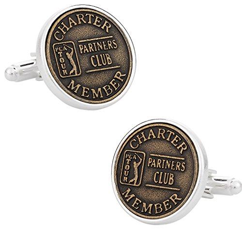 Cuff-Daddy PGA Ball Mark Golf Cufflinks in Sterling Silver with Presentation Box