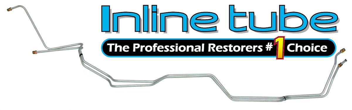 Inline Tube CTT7301 Compatible With 1973-80 Chevy C10 C20 GMC Truck Trans Transmission Cooler Lines Set OE STEEL (W 3 9)