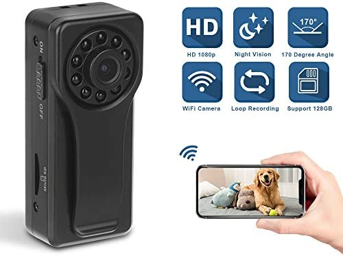 Wireless Camera, Eslibai WiFi Camera with Motion Detection, HD 1080P for iOS iPhone Android Phone App Remote View, Support 128GB SD Card K6