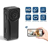 Spy Camera, ESLIBAI WiFi Hidden Camera 1080P Video Recorder Wireless IP Camera for Indoor Home Security Monitoring Nanny Cam 170° Angle Night Vision Motion Detection