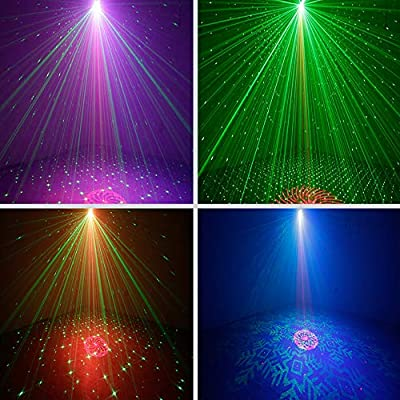 Disco DJ Light Party Light Strobe Stage Light LED light Sound Activated with Projector Effect Remote Control for Birthday Bar Club Wedding Christmas KTV Karaoke Festivals from I2light