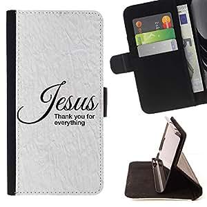 Momo Phone Case / Flip Funda de Cuero Case Cover - BIBLIA Jesús - Gracias Por Todo; - Apple Iphone 6
