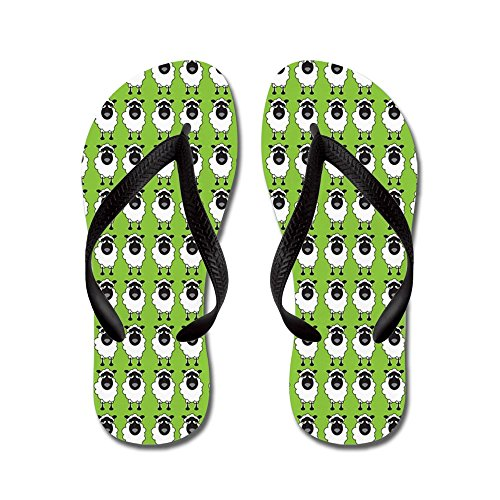 CafePress Sheep - Flip Flops, Funny Thong Sandals, Beach Sandals Black