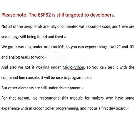 ESP32 Development Board - ESP32 Chip, 4 MB of SPI Flash