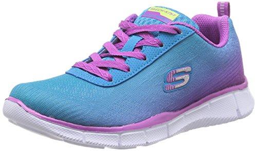 Price comparison product image Skechers Skechers Girls Equalizer Lace Up Textile Trainer Sneaker Royal Blue/Purple Textile UK Size 11.5 (EU 29, US 12.5)