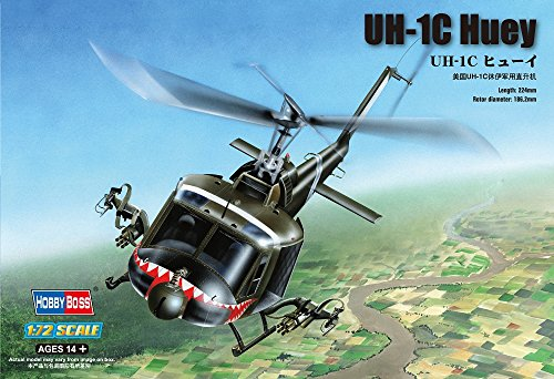 Hobby Boss UH-1C Huey Helicopter Model Building Kit, used for sale  Delivered anywhere in USA