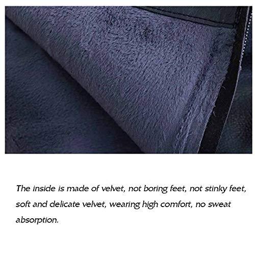 Mocassini Bianco Scarpe Classica posteriore lampo Ginocchio Inverno impermeabili Pelle calde Sopra l'autunno piatti piatta Chiusura Stivali e per wqxXATUt