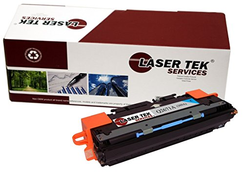 Laser Tek Services Compatible 309A Toner Cartridge Replacement for the HP Q2671A. (Cyan, 1-Pack) (Replacement Q2671a)