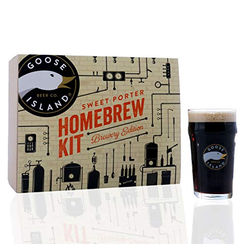 Goose Island Sweet Porter HomeBrewing Beer Making Recipe Kit - Brew Share Enjoy Kit - Malt Extract Ingredients For Making 5 Gallons Of Homemade - Ale Island Goose