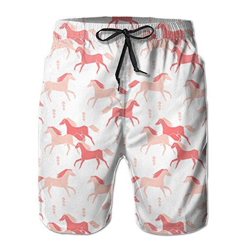 HUDEWDS23 New Southwest Horse Pink Girls Summer Suit Men's Beach Pants With Pockets