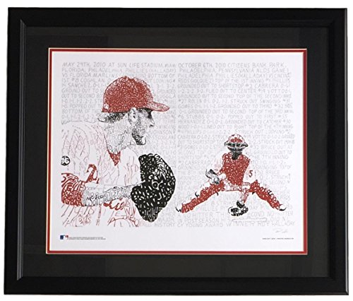 (Roy Halladay Framed 16x20 Philadelphia Phillies Perfect Game Word Art Photo)