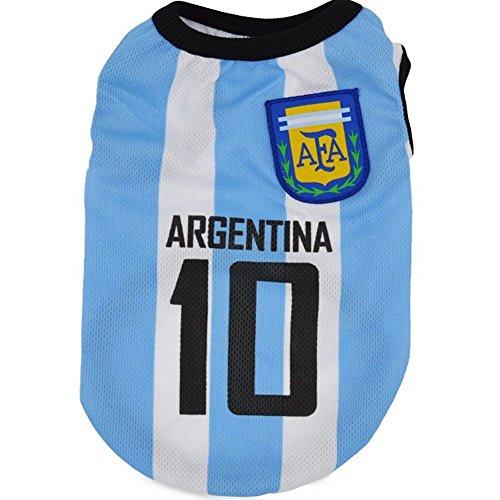 BNASA 2018 Rusia World Cup Argentina - Camiseta de fútbol para perro: Amazon.es: Hogar