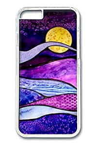 iPhone 6 Case, Dark Purple Night Custom Hard PC Clear Case Cover Protector for New iPhone 6 4.7inch