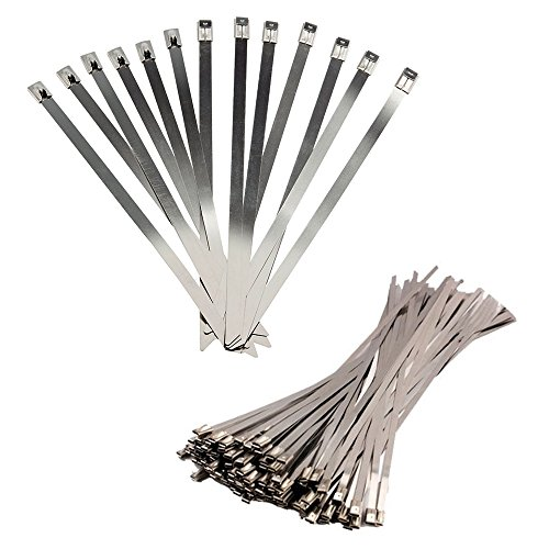 BestTong 14 Inches 100pcs Stainless Steel Zip Tie Self for sale  Delivered anywhere in Canada