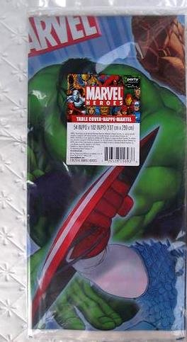 Marvel Heroes Plastic Tablecover 54in X 102 -