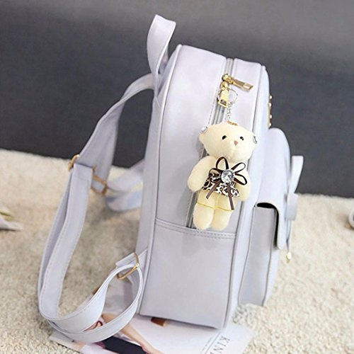 Gray Backpack Soft Crossbody Girls Solid Shoulder Girls ADESHOP Gray Clearance Bag sales School Four Bag Bag Sets ZdnwUxAqg