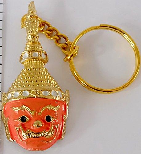 - Pale Orange Thai Pantomime keychain Gift Vintage Cumulative