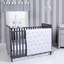 Trend Lab Bunnies 3 Piece Crib Bedding Set, Gray/White