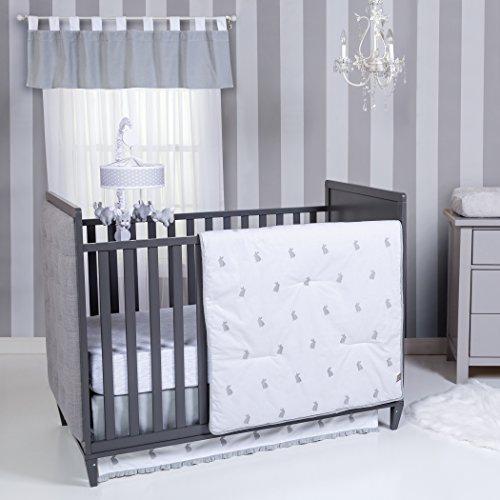 Trend Lab Bunnies 3 Piece Crib Bedding Set, Gray/White from Trend Lab