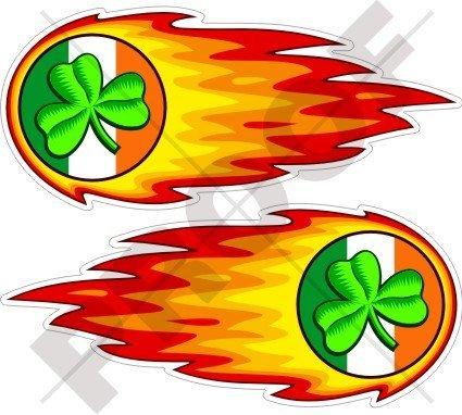 (IRELAND Irish Shamrock Flaming Fireball Fire EIRE 5
