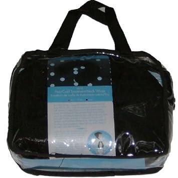 Amazon.com: Tratamiento de frío/calor cuello wrap negro ...