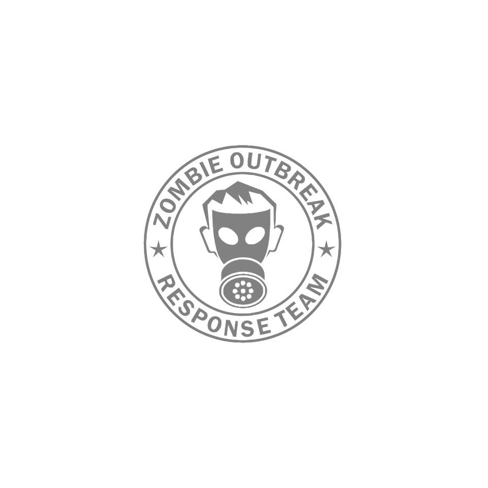 Zombie Outbreak Response Team IKON GAS MASK Design   5 SILVER   Vinyl Decal Window Sticker by Ikon Sign