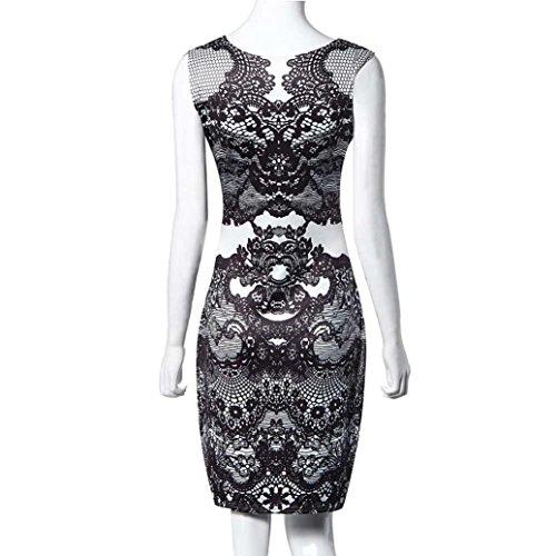 Robe à fleurs, Amlaiworld Fleur Vintage impression crayon élégant robe robe sans manches