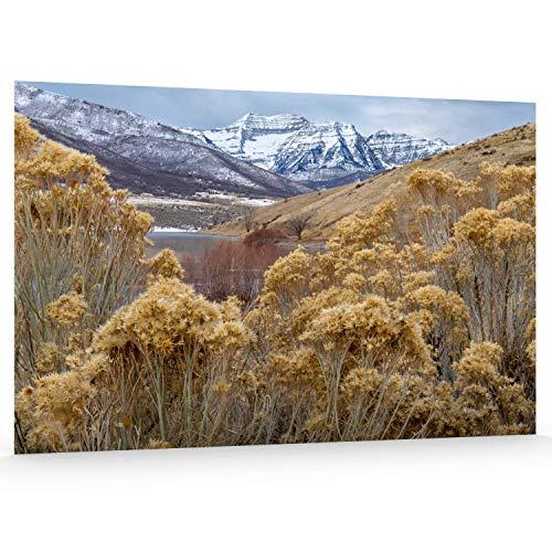 Utah Nature Photography 24x36 Inch Unframed Nature Poster Print Winter Mt Timpanogos
