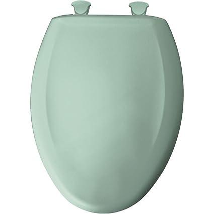 Stupendous Bemis 1200Slowt 205 Lift Off Plastic Elongated Slow Close Toilet Seat Aegean Mist Machost Co Dining Chair Design Ideas Machostcouk