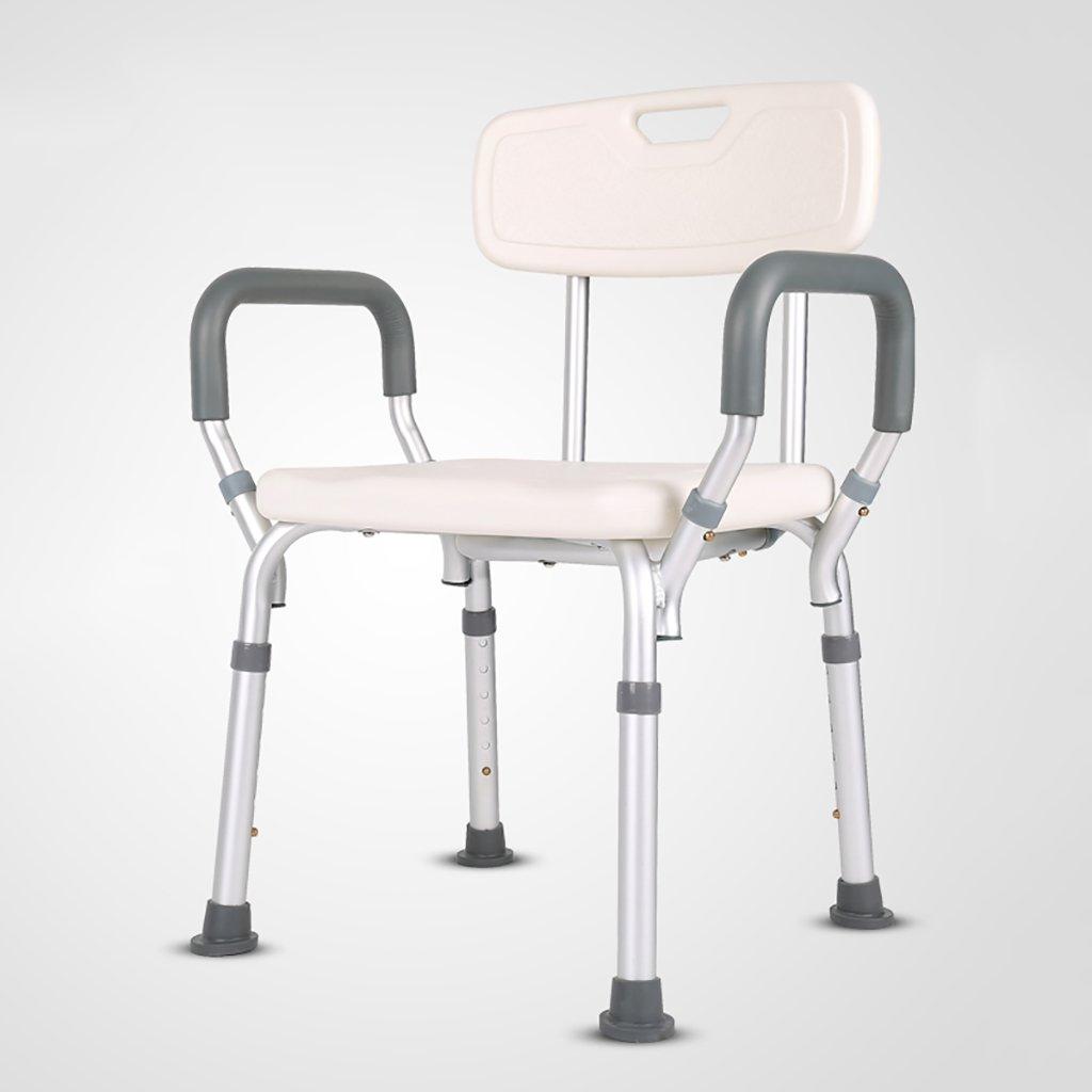 バスルームスツール折りたたみシャワーチェア高齢者、妊婦、大人、障害者バススツール滑り止め浴シャワーチェア B07DV3G37L