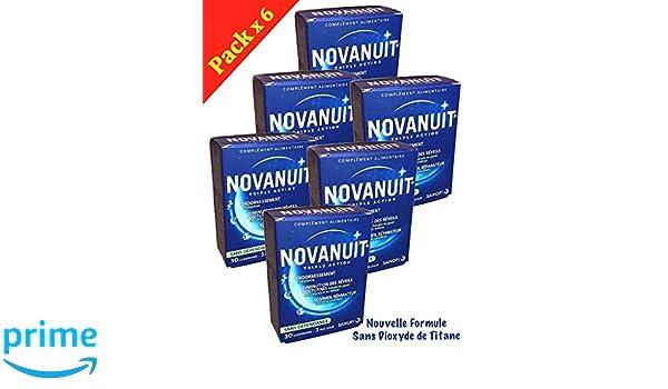 novanuit sueño triple action - Pastillas sin Dioxide de titanio - 6 ...