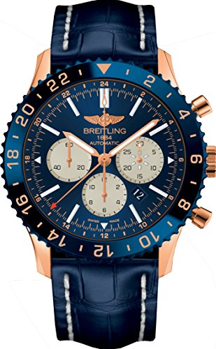 Breitling Chronoliner B04 Limited Edition of 250 Exclusive Pieces In Rose Gold With Blue Dial Watch RB046116/C972