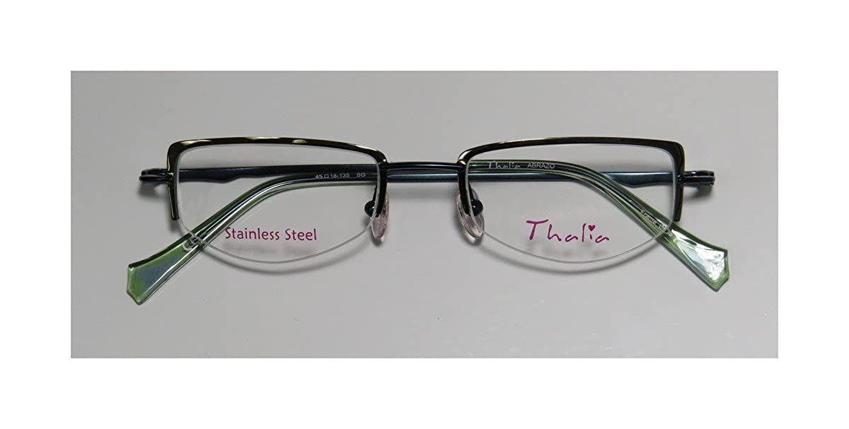 d238d56cdaee Thalia Abrazo Womens Ladies Ophthalmic Latest Season Designer Half-rim  Spring Hinges Eyeglasses Glasses (43-18-130  Amazon.in  Clothing    Accessories