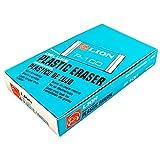 LION Translucent White Plastic Erasers, 24 EA/Box, 1 Box (P-100)