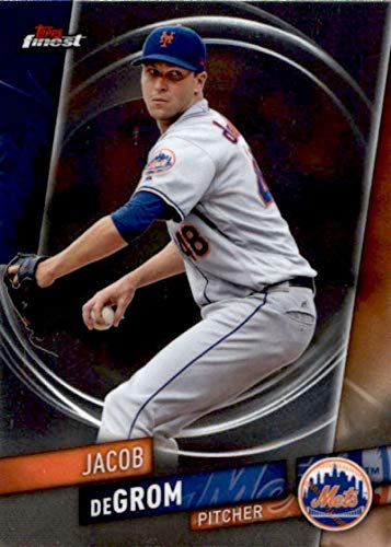 2019 Finest Baseball #50 Jacob deGrom New York Mets Official MLB Trading Card From Topps -