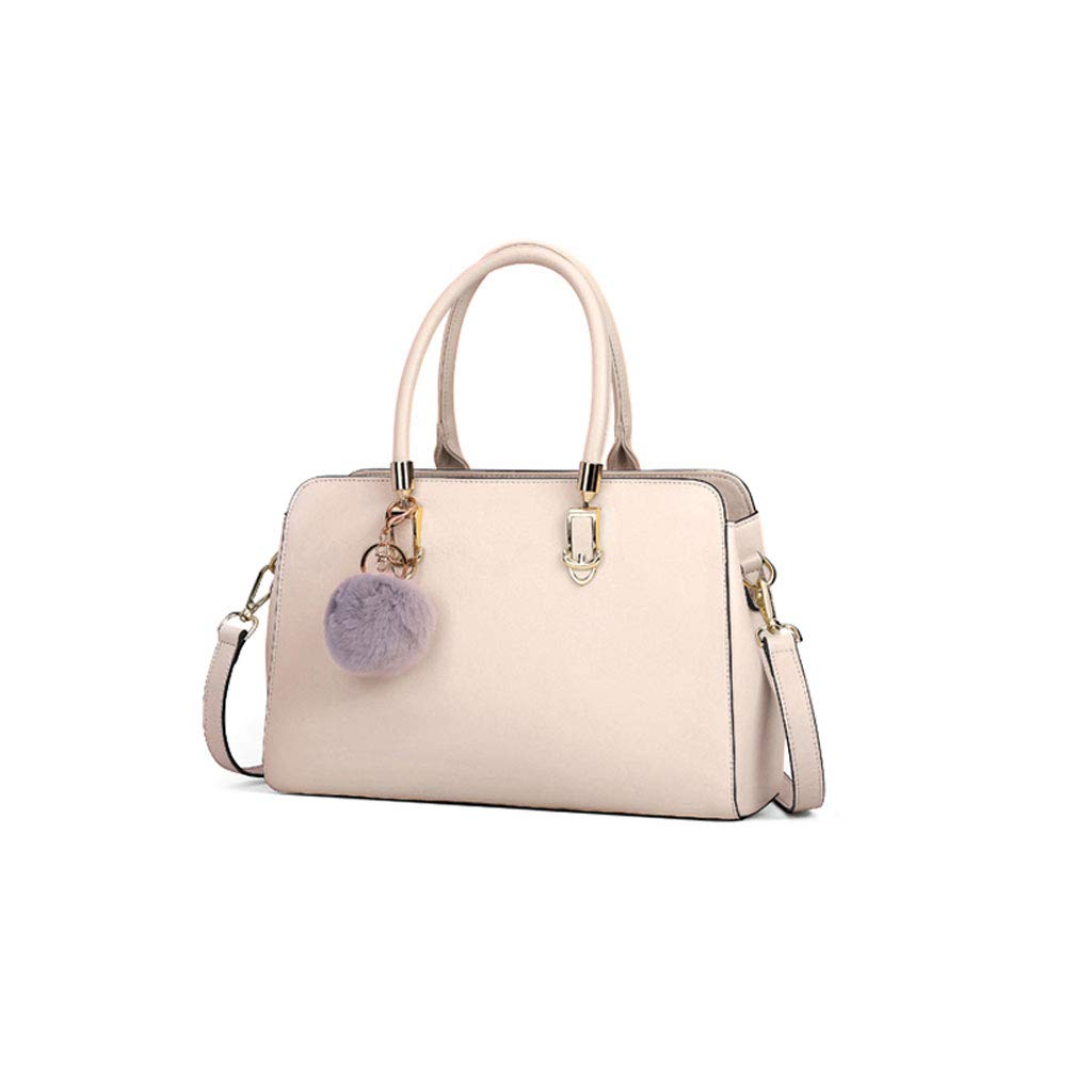 Large Capacity Shopping Bags, Kmgjc Womens Handbags Tote Color : White, Size : 31cm9cm20cm Work Tote Bag Leather Bag