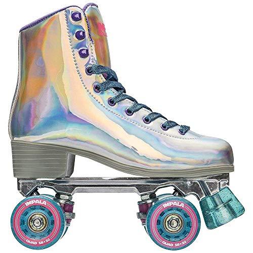 Impala Rollerskates Girl's Impala Quad Skate (Big Kid/Adult) Holographic 8