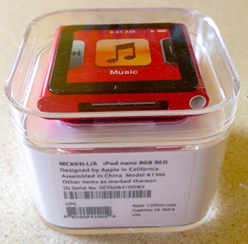 Apple iPod Nano 8GB Red (6th Generation) Discontinued By Man