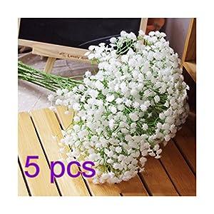 NO:1 Silk Artificial Baby Breath Gypsophila Flower Wedding Home Decor (5pcs) 46